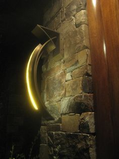 Custom exterior LED wall sconce designed by Terry Ohm for Phoenix Day Led Wall Sconce, Wall Sconces, Led Fixtures, Theme Color, Backyard, Patio, Summer Nights, Light Up, Wall Lights
