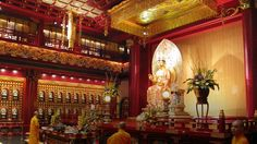 The Buddha Tooth Relic Temple also houses a museum, teahouse and theatre.