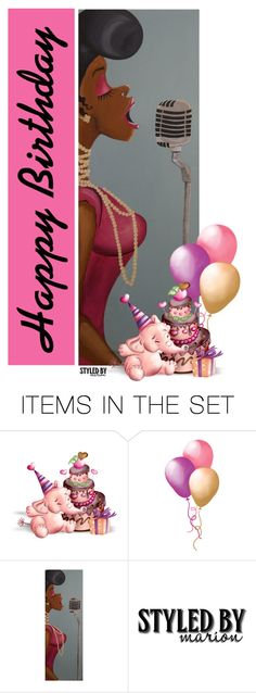"""Happy Birthday"" by marion-fashionista-diva-miller ❤ liked on Polyvore featuring art"