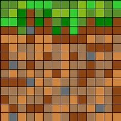 Minecraft Dirt Block - LOTS of printable MC patterns on this site Isle Tiermuster-Strickkarten Minecraft Pattern, Minecraft Crochet, Hama Beads Minecraft, Pixel Pattern, Minecraft Pixel Art, Minecraft Crafts, Minecraft Cake, Minecraft Party, Minecraft Skins
