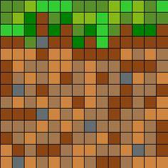 Minecraft Dirt Block bead pattern
