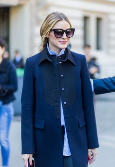 Olivia Palermo outside Moncler Gamme Rouge on October 5 2016 in Paris France