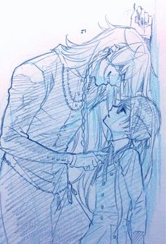 Kuroshitsuji: Undertaker & Ciel  Yana Toboso ilustración 2015.