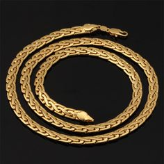 Cheap snake chain necklace, Buy Quality chain necklace directly from China designer necklace Suppliers: Quality Gold Color Men Jewelry Necklace Wholesale Unique Design Trendy 6 MM 55 CM Snake Chain Necklace Gold Chocker Necklace, Golden Necklace, Men Necklace, Chunky Chain Necklaces, Cheap Necklaces, Jewelry Necklaces, Chain Jewelry, Men's Jewellery, Mens Chain Designs