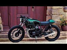 Toller Cafe Racer auf Basis einer Kawasaki Z650B von HB-Custom. Kawasaki Cafe Racer, Motorcycle, Bike, Youtube, Ideas, Style, Motorbikes, Bicycle, Swag