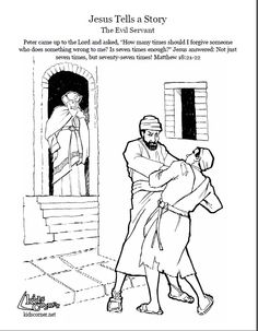 the parable of the evil servant coloring page audio bible stories and script available at