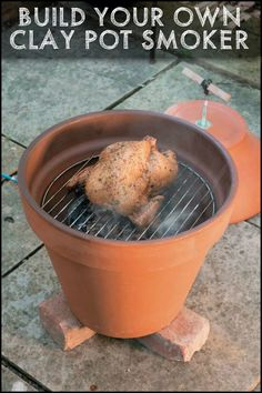 Enjoy outdoor cooking by building your own clay pot smoker!