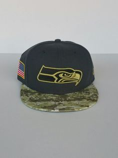 New Era Seattle Seahawks 59Fifty Dark Gray Camo Brim NFL Fitted Hat Size 7  1 4 a436e4851