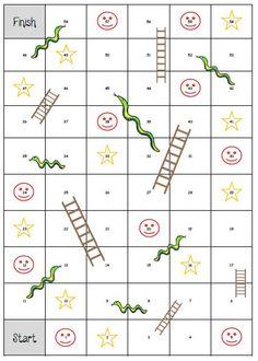 Slangen en ladders  https://dagmeester.wordpress.com/2015/04/28/slangen-en-ladders