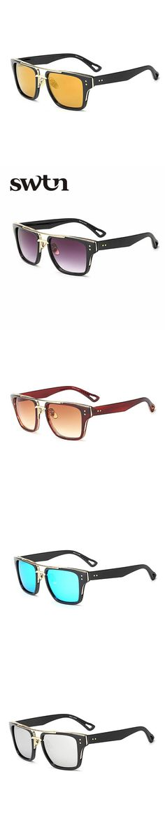 SWTN Hot Fashion Men Sunglasses Vintage Square Glasses Women Brand Designer Sun glasses Eyewear Oculos De Sol Masculino