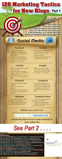 120 marketing tips for bloggers how to promote your blog #infographic www.socialmediamamma.com part 1