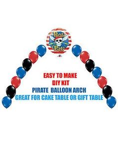 Pirates BALLOON ARCH DIY KITS Party Decorations cake table Halloween >>> Check this awesome product by going to the link at the image.