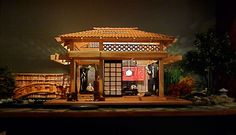 dollhouse miniature Japanese tea house