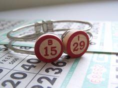 Repurposed Vintage Bingo Marker Hinged Bracelet