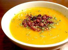 Kabocha Squash And Sweet Potato Soup With Adzuki Beans Recipe - Food ...