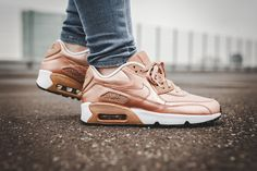 "Rose Gold Isn't Over Yet: Nike's Air Max 90 SE LTR (gs) ""Metallic Red"" - MISSBISH 