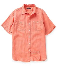 NEW Cremieux Laundered Linen Short Sleeve Shirt BIG & TALL  - Size L T…
