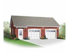 Simple and practical two-car garage.