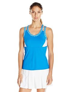 Boll Womens Kaleidoscope Tank Top with Bra Teal XLarge *** You can find more details by visiting the affiliate link Amazon.com.