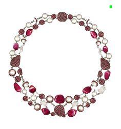 rubies,pearls,ruby beads