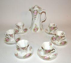 13 Piece Versailles Bavaria Porcelain Chocolate Set