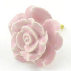 ... Pulls U0026 Handles ~ Hand Painted Vintage Ceramic Rose Knobs With Chrome  Hardware For Dresser, Drawers, Kitchen Cabinets U0026 Vanity Knobs U0026 More Home  Decor