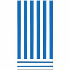 Royal Blue Striped Table Cover - 325035 | Party-ify! #stripes #blustripes #tablecovers #partysupplies