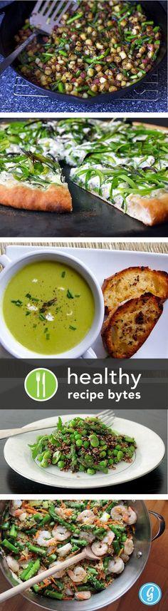 Healthy Asparagus Recipes-yum! Asparagus ricotta pizza