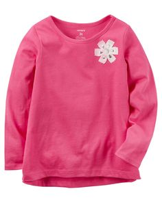 Toddler Girl Long-Sleeve Floral Embellished Tee from Carters.com. Shop clothing & accessories from a trusted name in kids, toddlers, and baby clothes.