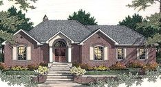 This 1 story French Country features 2339 sq feet. Call us at 866-214-2242 to talk to a House Plan Specialist about your future dream home!