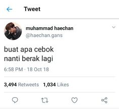 Humor Receh Chat 56 Ideas For 2019 Funny Quotes Tumblr, Jokes Quotes, Memes Humor, Funny Humor, Tweet Quotes, Mood Quotes, Funny Tweets Twitter, Nct, Quotes Lucu