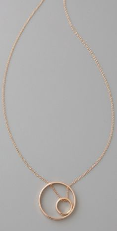 Inner Circle In Circle Necklace