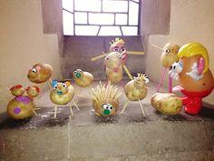 make your own potato heads! (thanks to St John's Messy Church, Watford) Toy Story Theme, Potato Heads, Music Do, Church Crafts, Bible Crafts, Kids Church, Having A Blast, St John's, Craft Activities