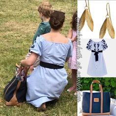 The Duchess of Cambridge, Prince George and Princess Charlotte were spotted at Houghton Horse Trails (27th May) . Her Outfi