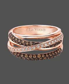 Love chocolate diamonds especially on the rose gold!