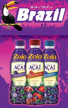 Ends March 27, 2013 Win a Trip to Brazil with Zola Acai