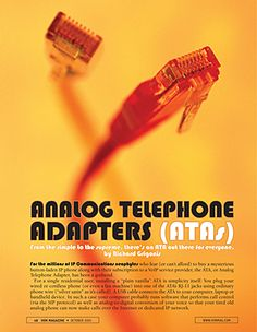 Opener for telecom magazine feature.