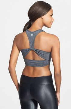 Koral Cutout Racerback Sports Bra available at #Nordstrom. Not that I plan to just workout in my bra but if that day ever happened.