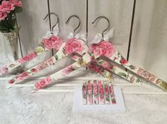 Shabby chic wooden clothes hangers with by lilhoneysshoppe on Etsy, $26.95