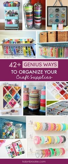 I love every one of these ideas for organizing craft supplies! Total If you need a one stop shop for craft storage inspiration this is it! Everything is organized by category: Scrapbook Paper Organization, Sticker Organization, Stamp Orga Scrapbook Paper Organization, Ribbon Organization, Sticker Organization, Scrapbook Supplies, Craft Supplies, Organization Ideas, Diy Scrapbook, Scrapbook Rooms, Organize Scrapbook Paper