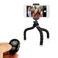TriFlex Mini Phone Tripod Stand - The Best Flexible iPhone Tripod for Any Smartphone Including iPhone 6, 6s Plus, Samsung Galaxy S6, Note 5 (Black) - http://our-shopping-store.com