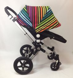 "emaSema ""over the rainbow"" Extending Canopy or Hood for Bugaboo Cameleon/ Cameleon3"