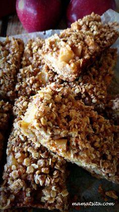 μπάρες μήλου Tiramisu Cheesecake, Biscuit Bar, Apple Bars, Granola Bars, Greek Recipes, Healthy Choices, Breakfast Recipes, Biscuits, Cereal