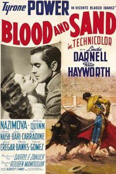 BLOOD AND SAND - Tyrone Power - Linda Darnell - Rita Hayworth - 20th Century-Fox - Movie Poster.