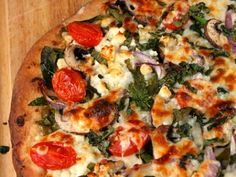 spinach, mushroom and feta pizza or you can use the cauliflower crust