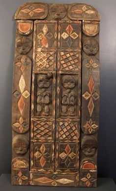 Africa | Door from the Fang people of Gabon | Wood and pigments | ca. 1982