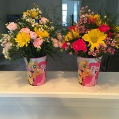 My little pony birthday party flowers.