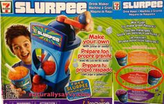 Toys R Us sells a 7-Eleven Slurpee machine for kids, along with many other marketing messages masquerading as toys.