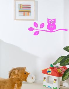 Owl On A Branch vinyl wall words decals by twiceasnicelettering