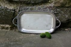 Small Oblong Silverplate Serving Tray w by NorthMajestyTrail